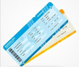 Airline tickets template design vector 01