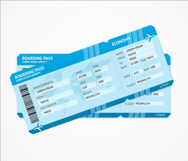 airline ticket template free