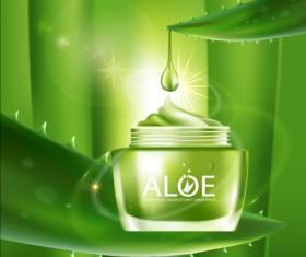 Aloe Cosmetics background vector 01