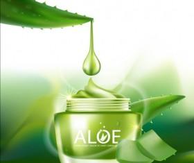 Aloe Cosmetics background vector 02