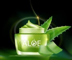 Aloe Cosmetics background vector 03