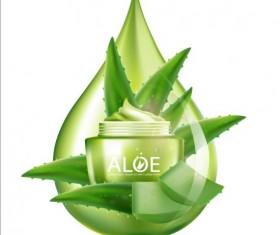 Aloe Cosmetics background vector 04