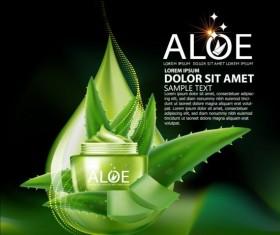 Aloe Cosmetics background vector 05