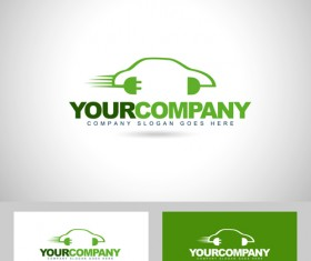 Auto logos with business card vector