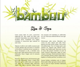 Bamboo background with spa vector 01