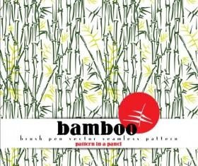 Bamboo brushpen vector seamless pattern