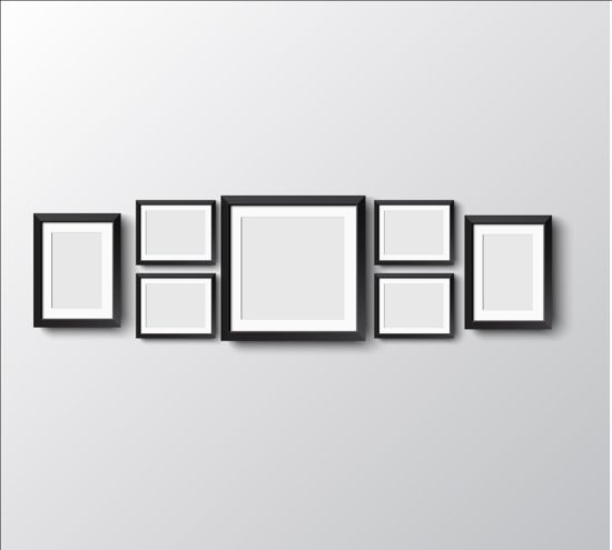 Frames On Wall set of empty frame on the wall vector 05 - vector frames & borders