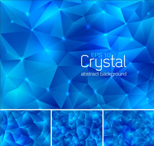 Blue crystal abstract background vector free download