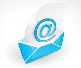 Blue email icon creative vector