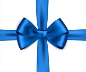 Blue ribbon bows vector