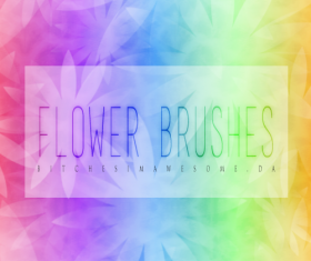 Blurs Flower PS Brushes