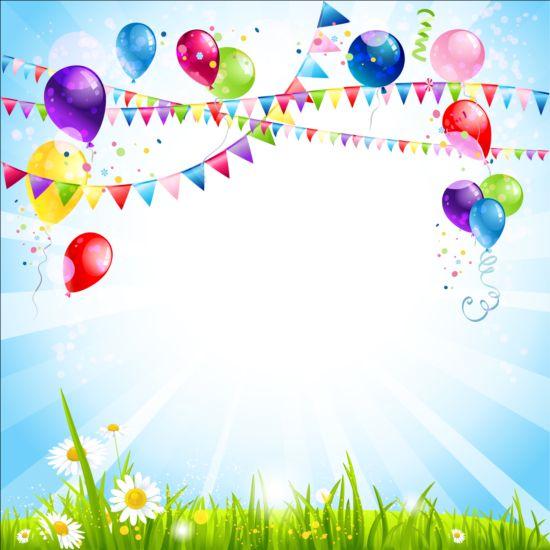 Bright Birthday Background Design Vector 09 Free Download