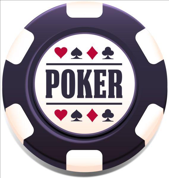 Casino poker chips background vector 01