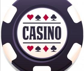 Casino poker chips background vector 02