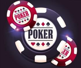 Casino poker chips background vector 03