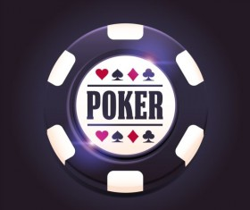 Casino poker chips background vector 04