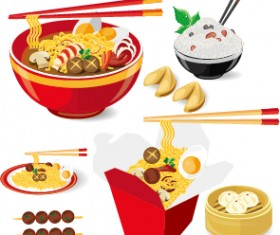 Chinese food vector material set 03