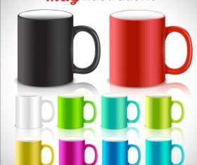 Colored mug illustration vector