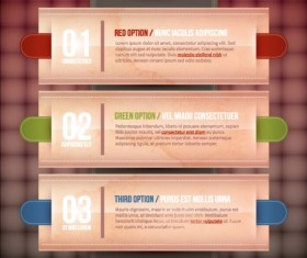 Creative option numbers Infographics design 04
