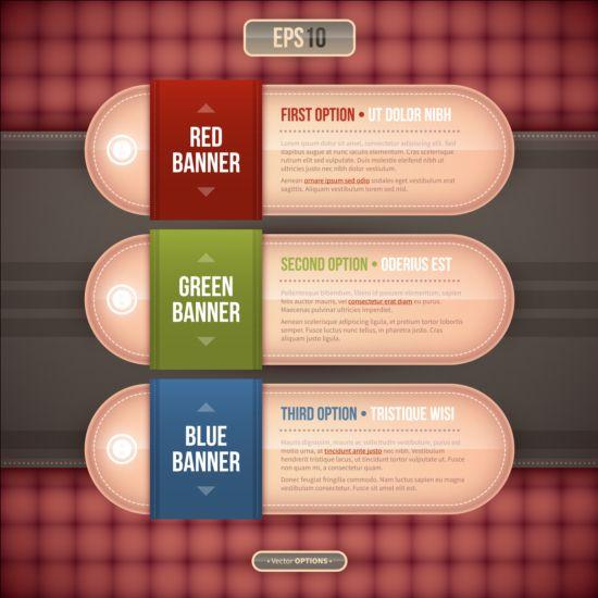 Creative option numbers Infographics design 05