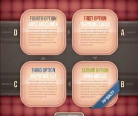 Creative option numbers Infographics design 06