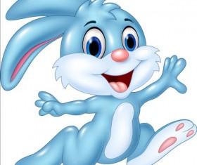 Cute cartoon rabbit design vector 01