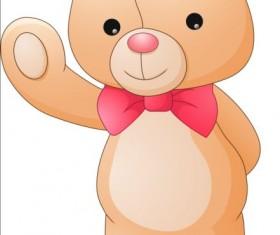 Cute teddy bear vector illustration 01