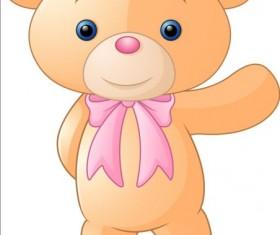 Cute teddy bear vector illustration 03