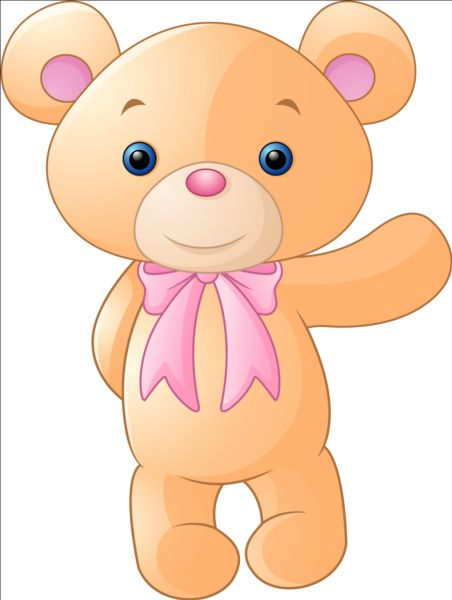 Lovely teddy bear vector graphic free vector in encapsulated.
