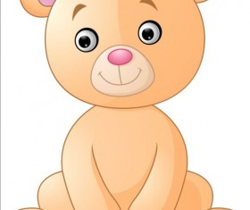Cute teddy bear vector illustration 04