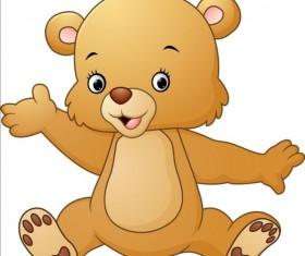 Cute teddy bear vector illustration 07