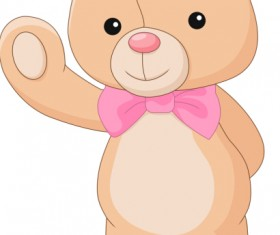 Cute teddy bear vector illustration 08