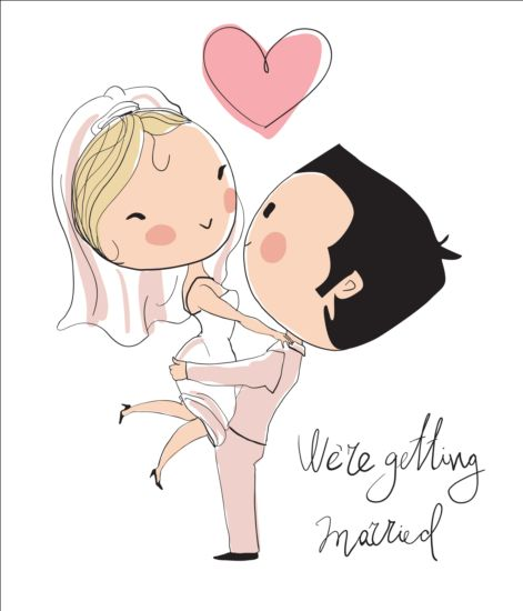 Cute wedding card hand drawn vector 02 free download cute wedding card hand drawn vector 02 junglespirit Images