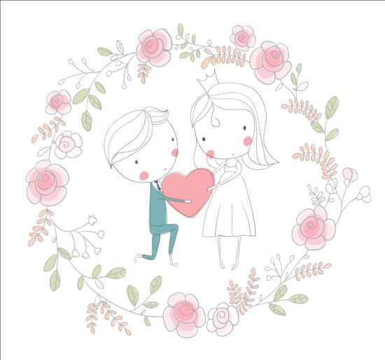 Cute wedding card hand drawn vector 14 free download cute wedding card hand drawn vector 14 junglespirit Images