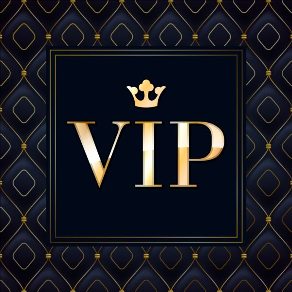 Dark Blue Vip Luxury Background Vector 01 Vector