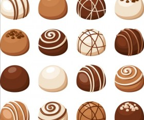 Delicious chocolate icons set vector 02