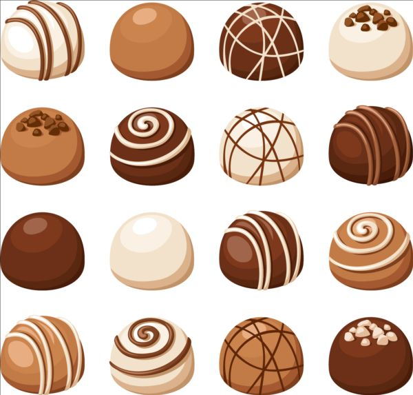 Delicious Chocolate Icons Set Vector 02 Food Icons Free