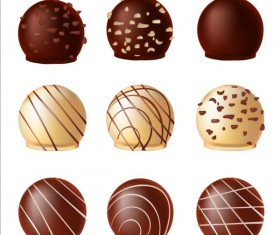 Delicious chocolate icons set vector 03
