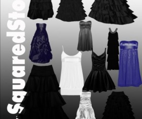 Dress Photoshop Brushes set