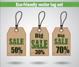 Eco-friendly vector tag set 02