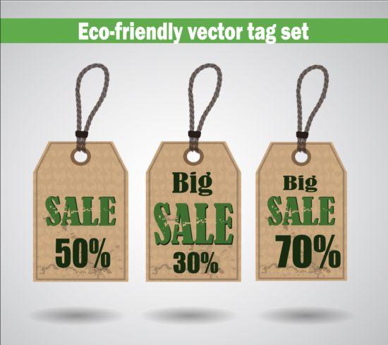 Eco friendly vector tag set 02