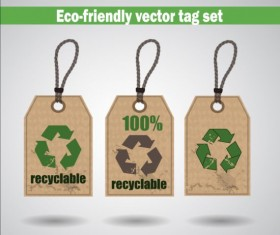 Eco-friendly vector tag set 03