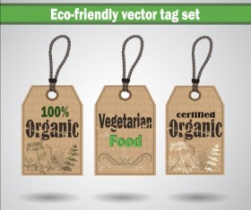 Eco-friendly vector tag set 04
