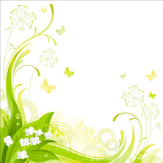 elegant floral background illustration vector 07