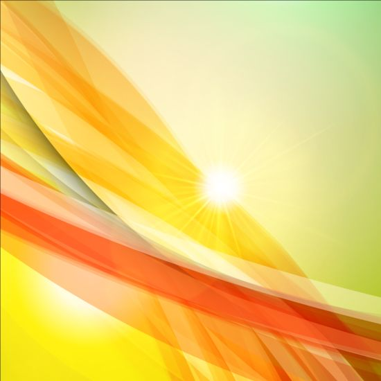 Elegant lines with light vector backgrounds 02