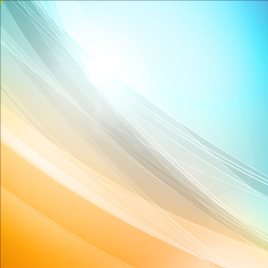 Elegant lines with light vector backgrounds 08