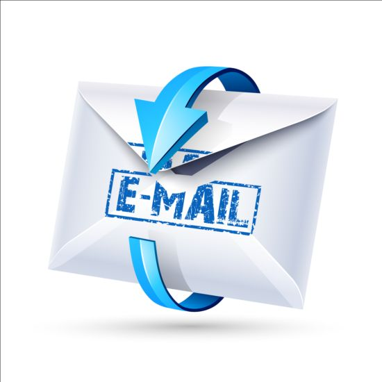 Email Icon With Blue Arrow Vector 03 Web Icons Free Download