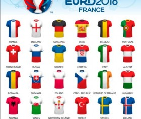 Euro2016 cup football background vector 01