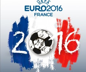 Euro2016 cup football background vector 03