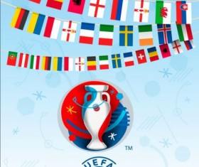 Euro2016 cup football background vector 04